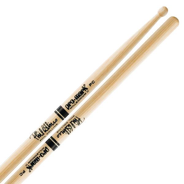Trommestikker Pro-Mark Autograph Phil Collins PCW, TXPCW, Hickory, Wood Tip