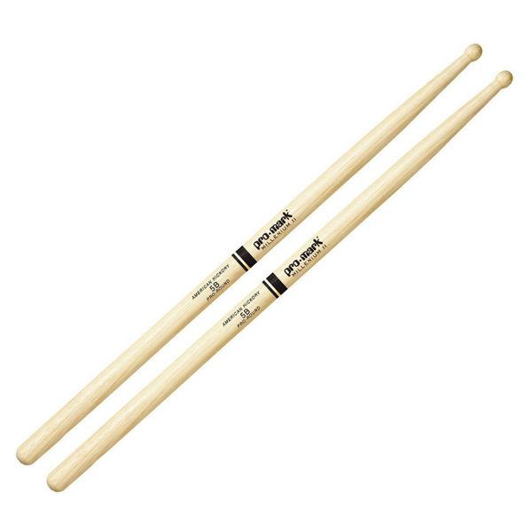 Trommestikker Pro-Mark American Hickory Lakk 5B Pro Round, TXPR5BW, Wood Tip