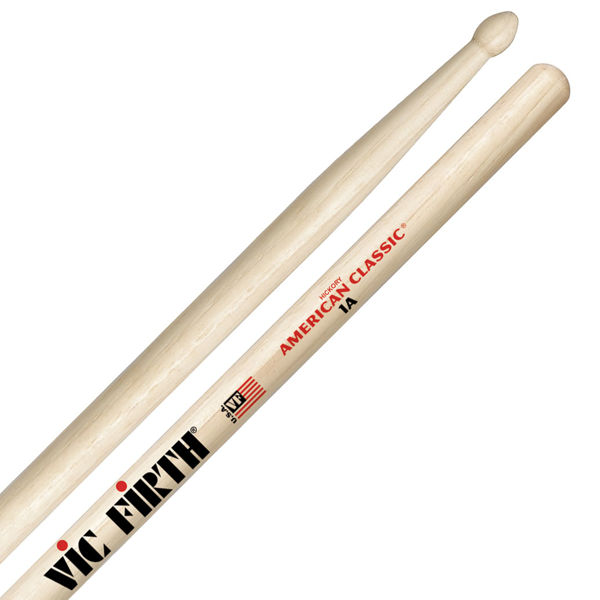 Trommestikker Vic Firth American Classic 1A, Hickory, Wood Tip
