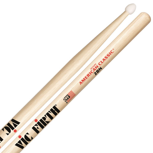 Trommestikker Vic Firth American Classic 2BN Hickory, Nylon Tip