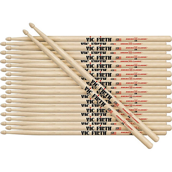 Trommestikker Vic Firth American Classic 55A, Hickory, Wood Tip, 12 Par