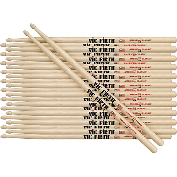 Trommestikker Vic Firth American Classic 5A, Hickory, Wood Tip, 12 Par