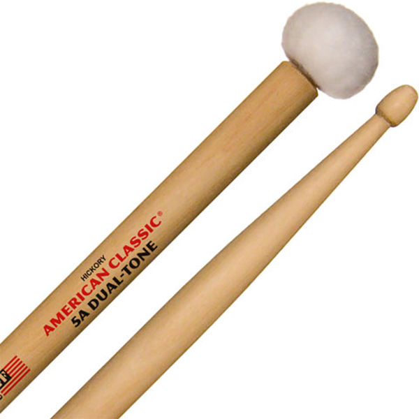 Trommestikker Vic Firth American Classic Dual Tone 5ADT, Hickory, Wood Tip/Felt Head