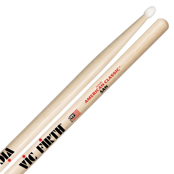 Trommestikker Vic Firth American Classic 5AN Hickory, Nylon Tip