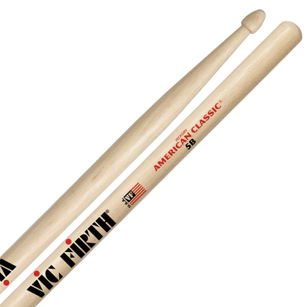 Trommestikker Vic Firth American Classic 5B Hickory, Wood Tip
