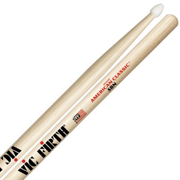 Trommestikker Vic Firth American Classic 5BN Hickory, Nylon Tip