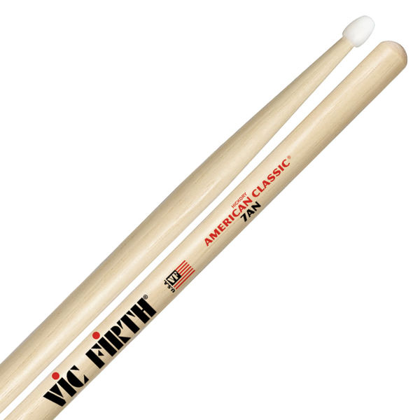 Trommestikker Vic Firth American Classic 7AN Hickory, Nylon Tip
