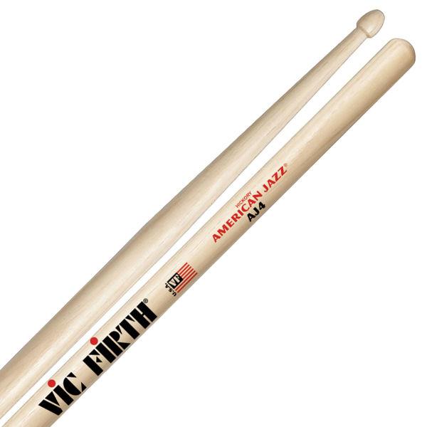 Trommestikker Vic Firth American Jazz AJ4 Hickory, Wood Tip