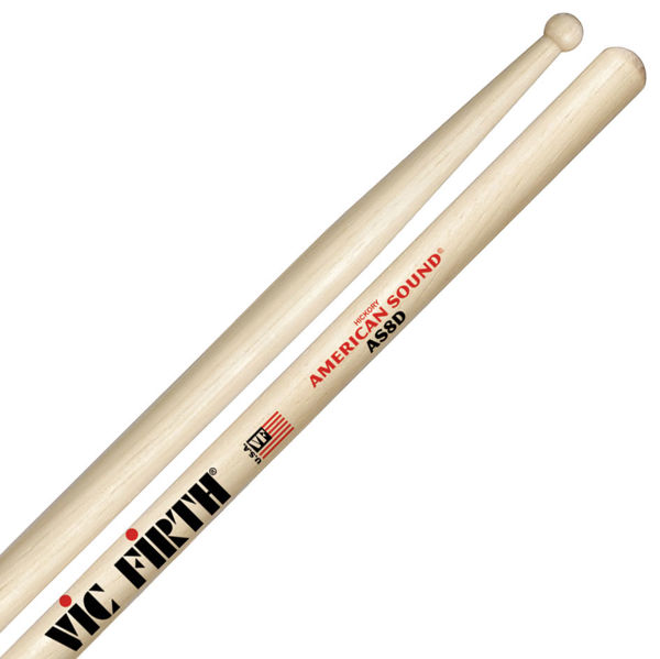 Trommestikker Vic Firth American Sound AS8D Hickory, Wood Tip
