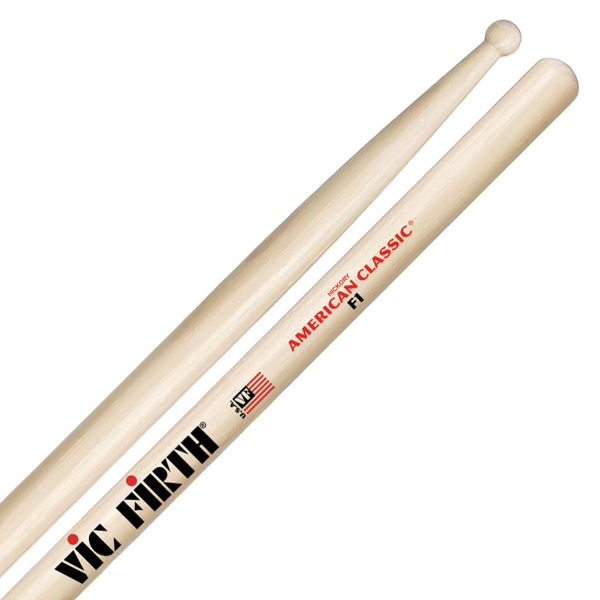Trommestikker Vic Firth American Classic F1 Hickory, Wood Tip