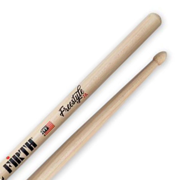 Trommestikker Vic Firth American Concept Freestyle FS7A Hickory, Wood Tip