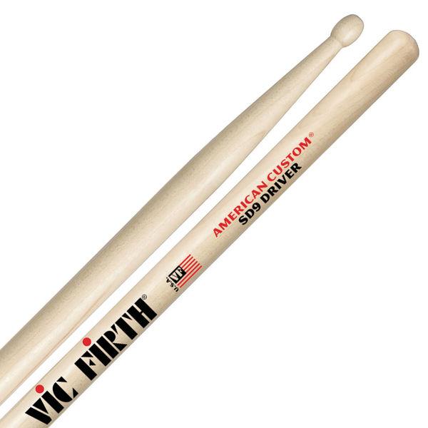 Trommestikker Vic Firth American Custom SD9 Driver Maple, Wood Tip