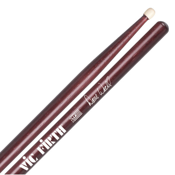 Trommestikker Vic Firth Signature Dave Weckl SDW, Red Hickory, Wood Tip
