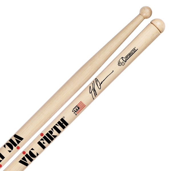 Trommestikker Vic Firth Signature Jeff Queen SJQ, White, Hickory, Wood Tip