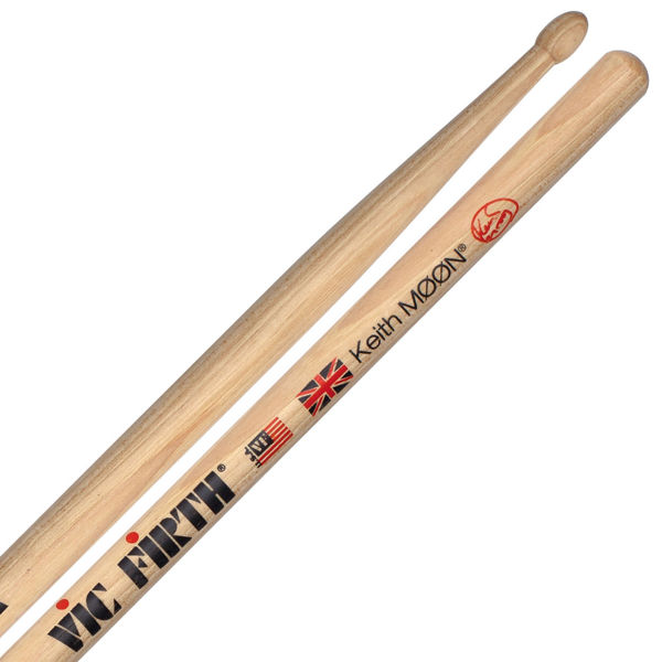 Trommestikker Vic Firth Signature Keith Moon SKM, Hickory, Wood Tip