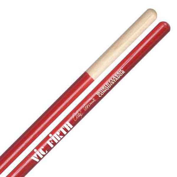 Timbalestikker Vic Firth Signature Alex Acuna SAA, Conquestador, Red Hickory