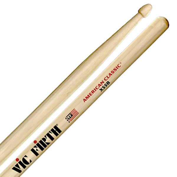 Trommestikker Vic Firth American Classic X55B, Extreme, Hickory, Wood Tip