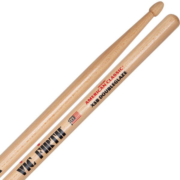 Trommestikker Vic Firth American Classic X5BDG Hickory, Double Glaze, Wood Tip