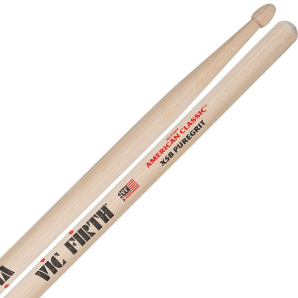 Trommestikker Vic Firth American Classic X5BPG Hickory, Puregrit, Wood Tip