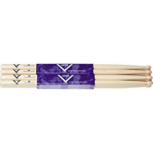 Trommestikker Vater Amercian Hickory 5B, VH5BW, Wood Tip, 4 Par