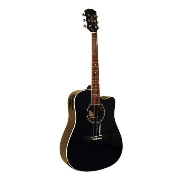 Gitar Western Morgan W 116CEBK Sort