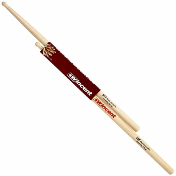 Trommestikker Wincent Maple RoundTip 55FMRT Fusion, Wood Tip