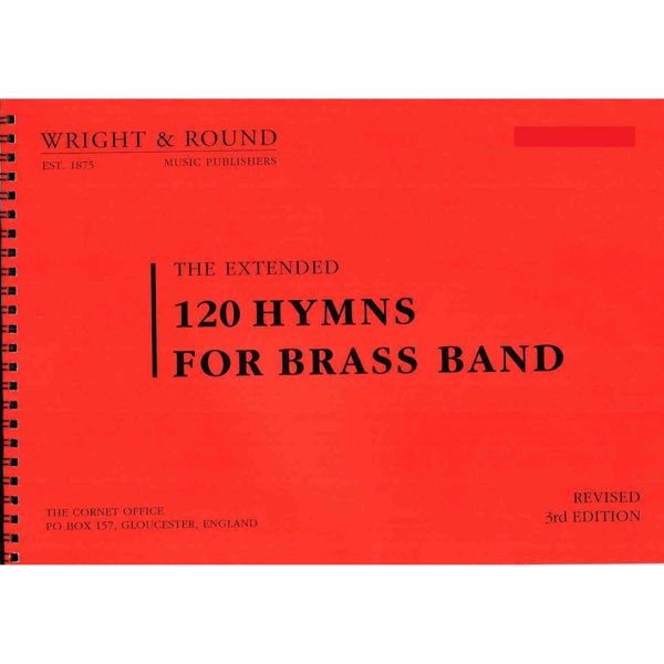 120 hymns for Brass band Solocornet Bb A4