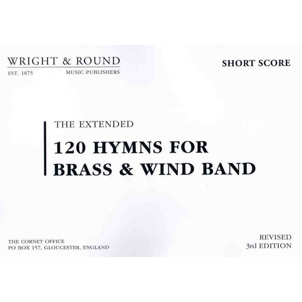 120 hymns for Brass & Wind Band Short Score A4