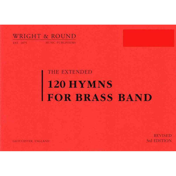 120 hymns for Brass band Drums A5 Standardformat