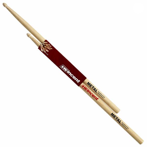 Trommestikker Wincent Hickory Standard Metal, Wood Tip