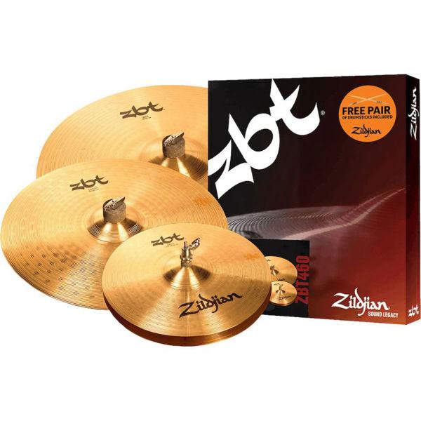 Cymbalpakke Zildjian ZBT ZBT460 Promo Pac,, 14-16-20 + Z5A Drum Sticks