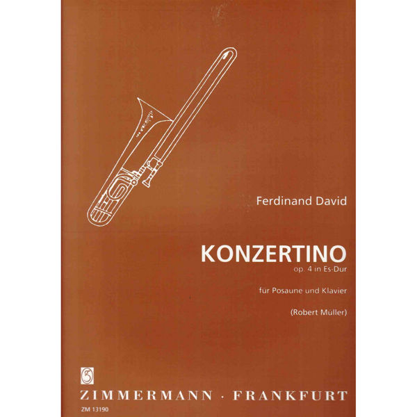 Concertino op. 4 Eb-Dur for Trombone and Orchestra, Piano version - Ferdinand David arr Robert Muller
