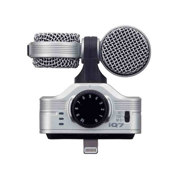 Zoom IQ7 midtside - mikrofon til iPhone 5/6, iPad og iPod Touch