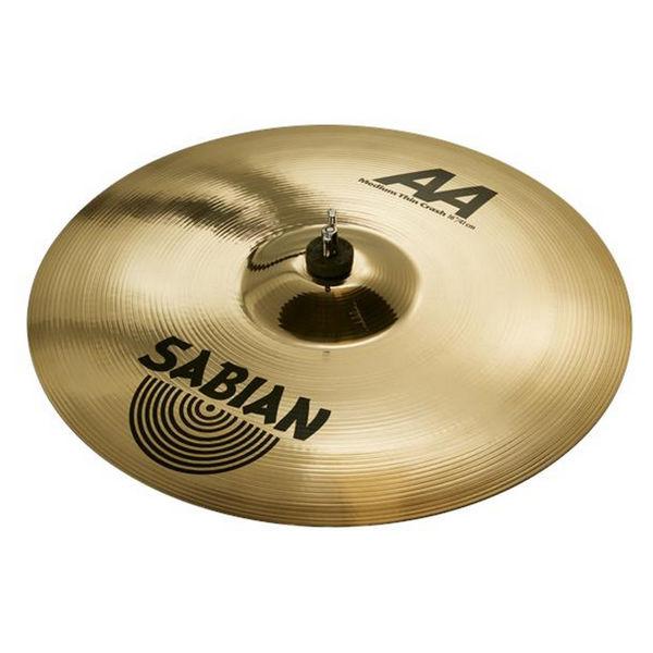Cymbal Sabian AA Crash, Medium Thin 16, Brilliant