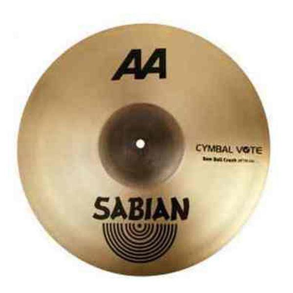 Cymbal Sabian AA Crash, Raw Bell 18, Brilliant