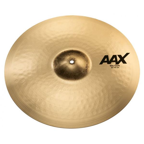 Cymbal Sabian AAX Crash, Thin 18, Brilliant