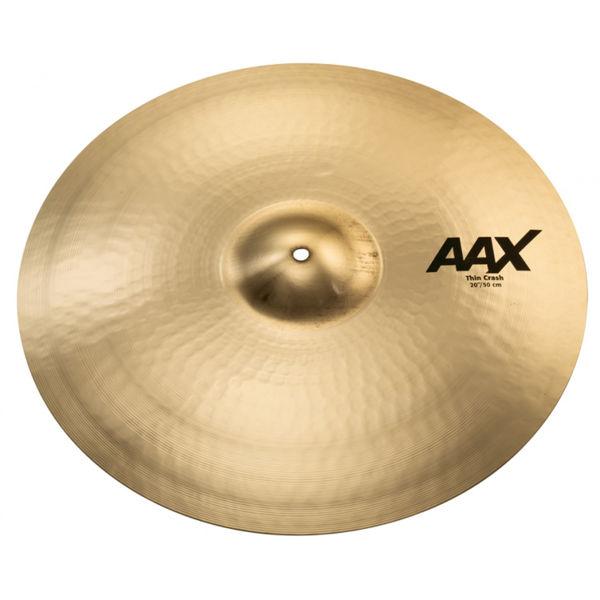Cymbal Sabian AAX Crash, Thin 20, Brilliant