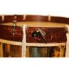 Slåttetromme Apica, 14x12 Messingtromme m/Taustrammet Naturskinn, Bandolær og Bag