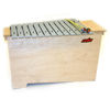 Metallofon Hau-Sheng HMB-16-1, Bass Diatonisk C3-A4 (C28-A49) 16 Stk. 10,5mm Staver, 78x33x53cm