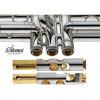 Kornett Stomvi Bb Titan Gold Brass Bell Silverplated  (incl. Dynasound valve guide, Valve Clappers Bottom Cap Clappers)