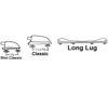 Tillegg Ludwig Lugs, Large Twin Lug, pr Tromme