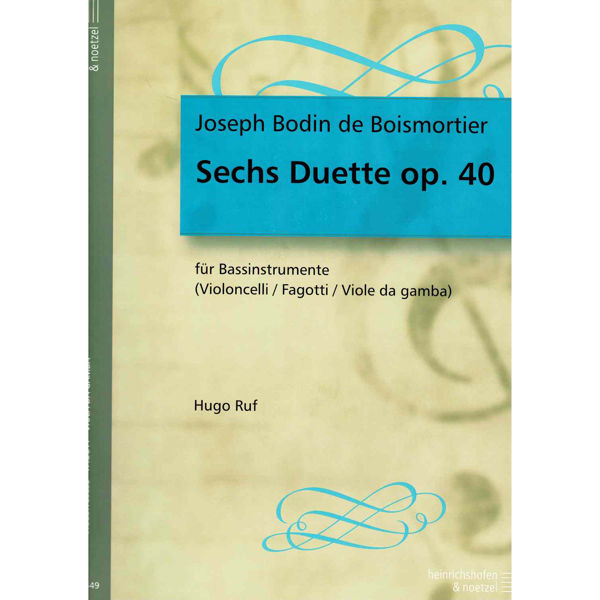 Boismortier 6 Duets for 2 Bassoons or Cellos Op 40