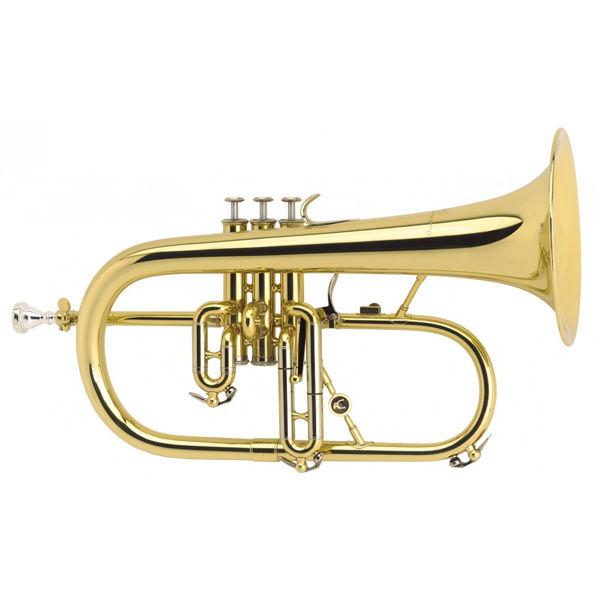 Flygelhorn Courtois 154 Professional, Yellow Brass, 3v. Lakkert