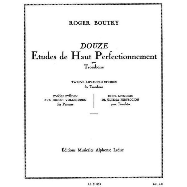 12 Etudes de haut Perfectionnement, Roger Boutry. Trombone