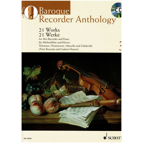 Baroque Recorder Anthology 3, 21 pieces for Treble Recorder and Piano