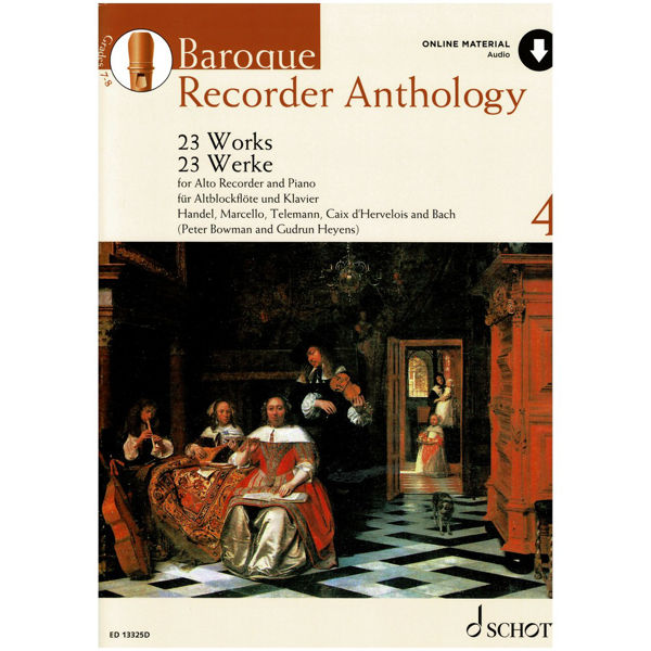 Baroque Recorder Anthology 4, 23 pieces for Alto Recorder and Piano