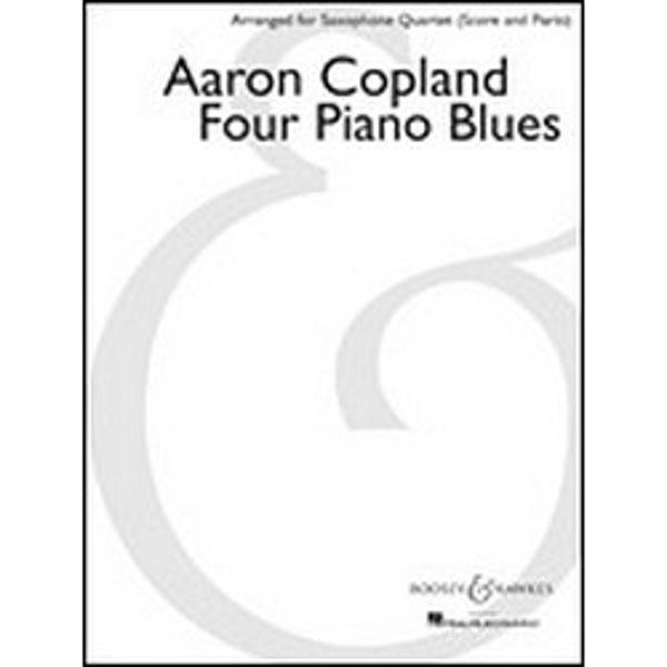 Four Piano Blues, Aaron Copland, Saxophone Quartet (Score and Parts) SATB