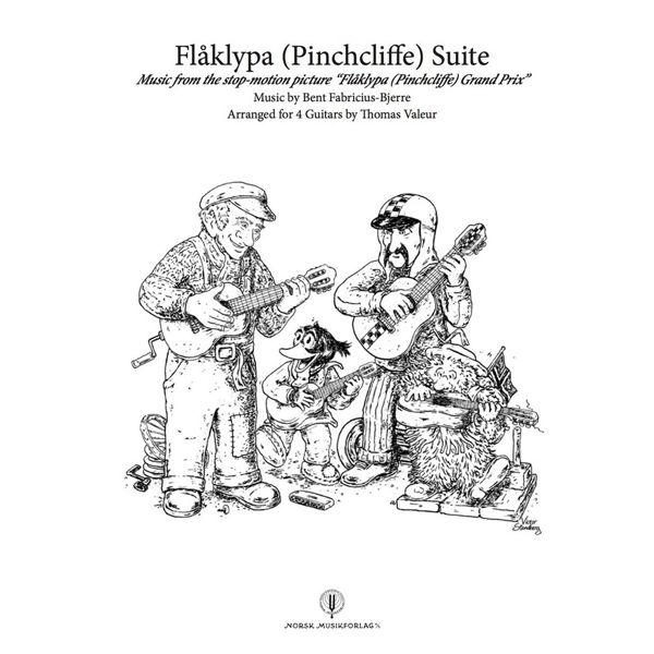 Flåklypa Suite, Bent-Fabricius-Bjerre arr Thomas Valeur, for 4 Guitars