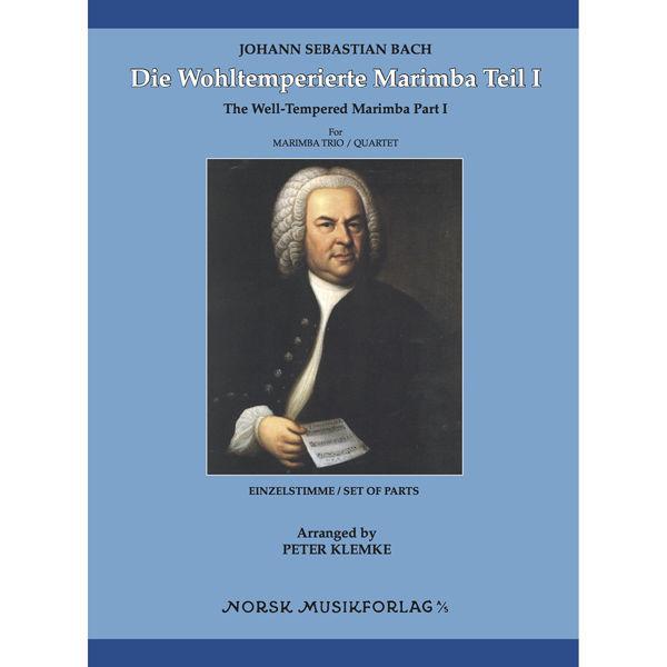 Die Wohltemperierte Marimba Teil 1, Johann Sebastian Bach. arr Peter Klemke. Marimba Quartet. Set of Parts