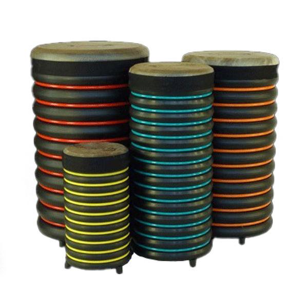 Pedagogtrommer Trommus E2u, A2u-B3u-C3u-D3u, Set of 4 Drums w/Natural Skin